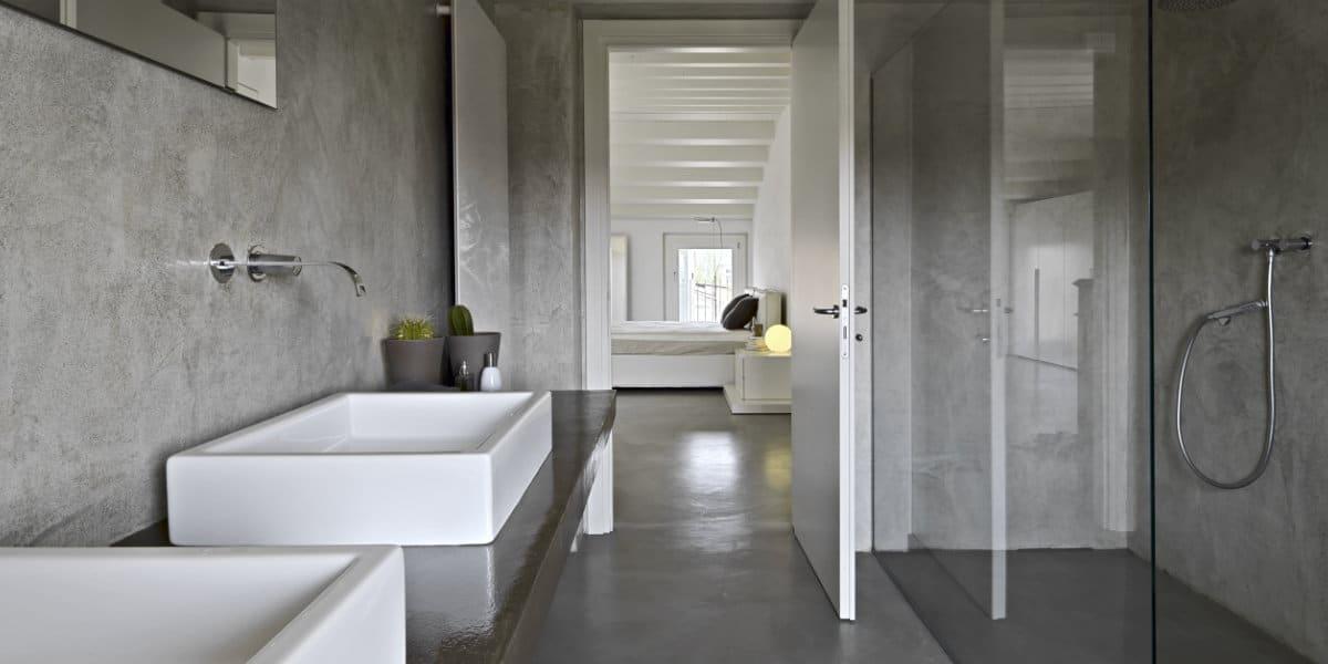 betonstuc badkamer