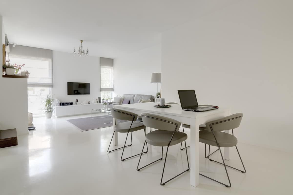 Keuken Gietvloer Witte : Witte gietvloer inspiratie en info over witte gietvloeren