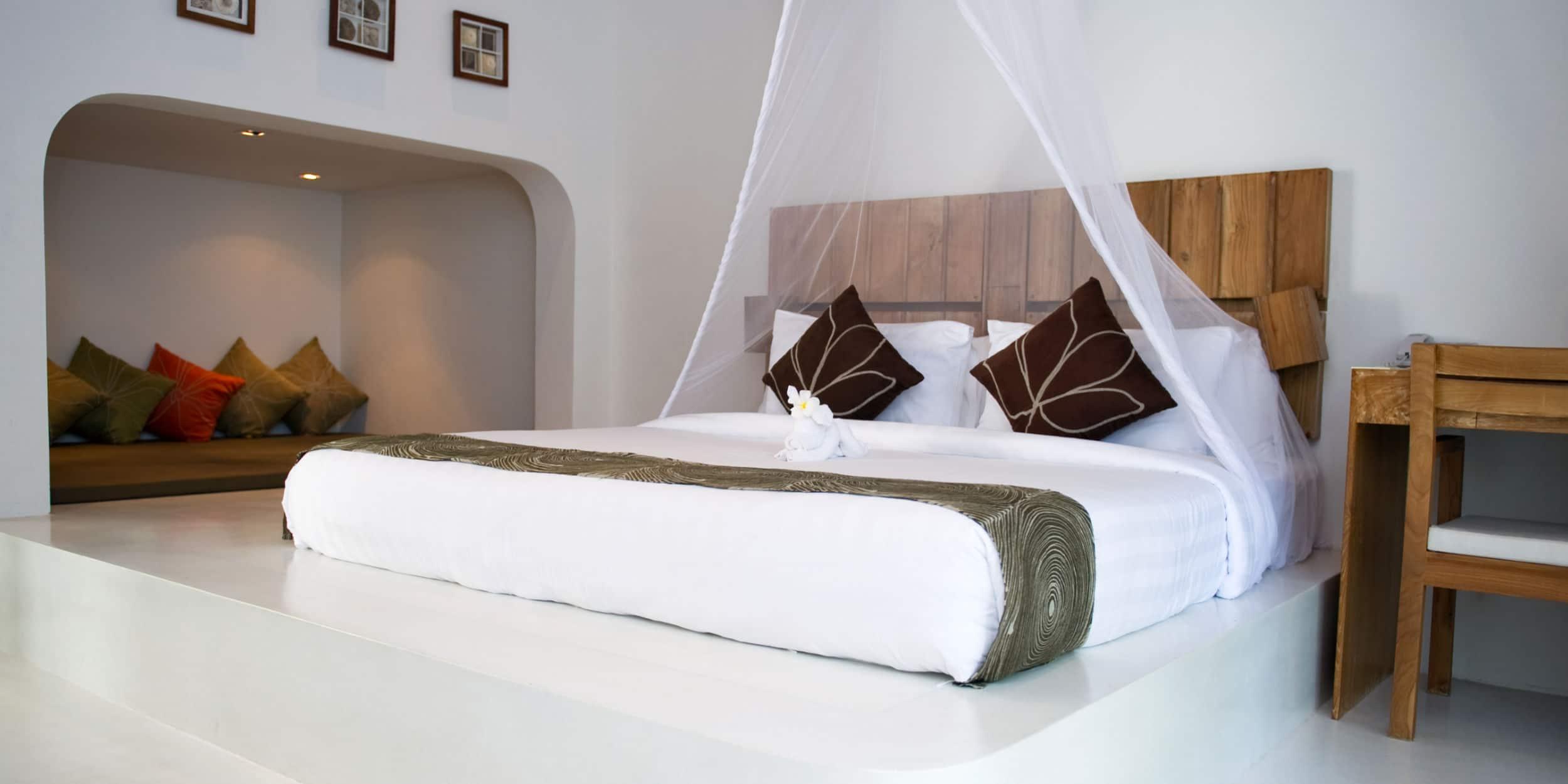 witte gietvloer slaapkamer